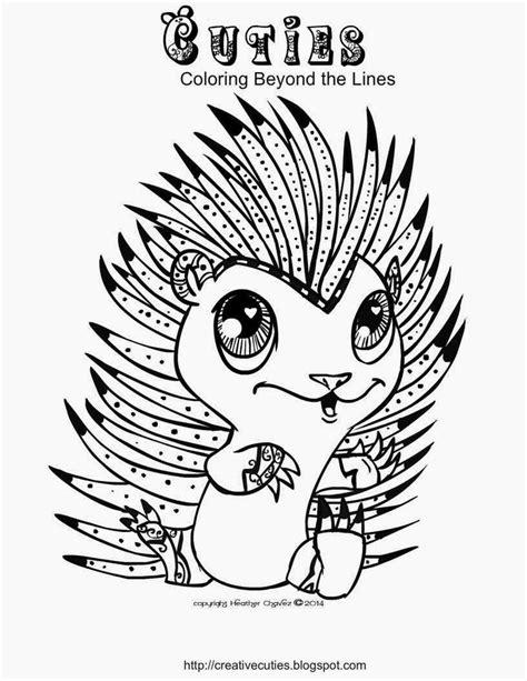 Creative Cuties: Hedgehog Cutie coloring page | cool