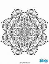 Mandala Coloring Pages Hellokids Adult Worksheet sketch template