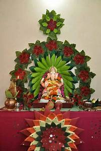 paper flower arrangement ganpati decoration ideas at home ganesh pooja decoration