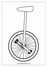 Coloring Miscellaneous Unicycle Sheet Sheets Megaworkbook Misc sketch template