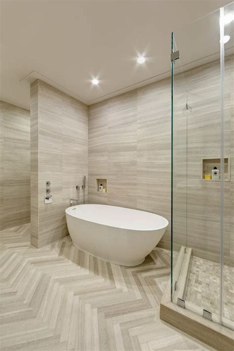 Modern Bathroom Tile Layout by Modern Master Bathroom With Artistic Tile Vestige Cloud