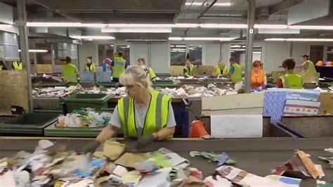 milton keynes recycling factory mrf  youtube
