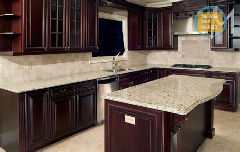 giallo ornamental granite with cherry cabinets indelink