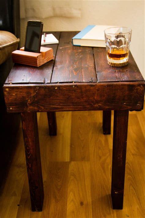 diy wood end table diy rustic pallet wooden end table pallet furniture plans