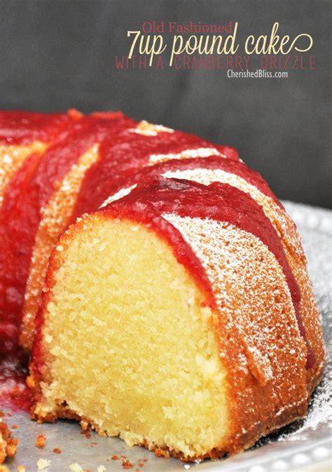 7Up Pound Cake Recipe Old-Fashioned