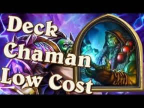 Hearthstone  Deck Low Cost Légende  Chaman Youtube