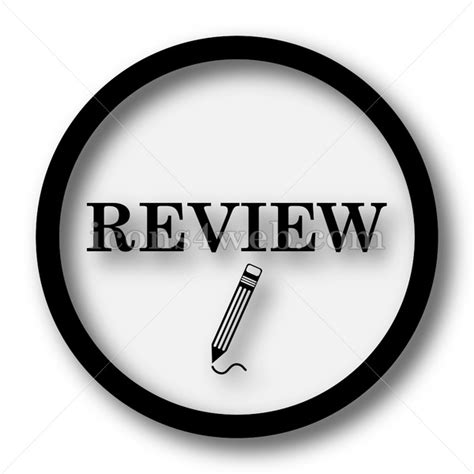 Review simple icon. Review simple button.