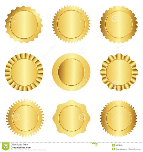 gold seal template blank seal template  templates data