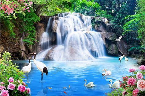 customize  luxury wallpaper waterfalls water landscape