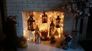 How To Hang Led Lights In Bedroom Hang Lanterns And Lights Into An Unused Fireplace