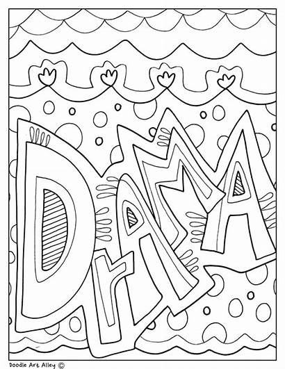 Drama Pages Coloring Subject Theatre Printable Subjects