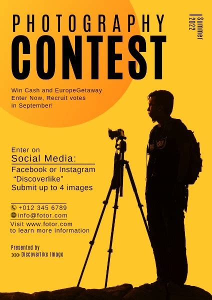 photography contest poster template fotor design