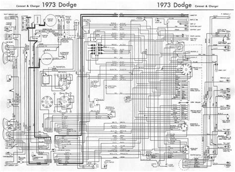 1967 Charger Wiring Diagram by Dodge Coronet And Charger 1973 Complete Wiring Diagram