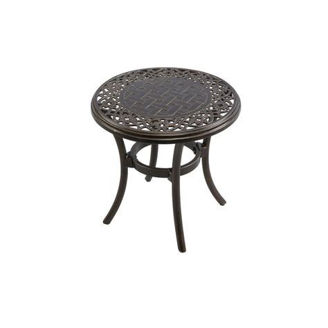 patio side tables hton bay niles park 18 in cast top patio side