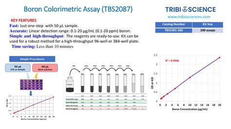 Boron Colorimetric Assay - Tribioscience