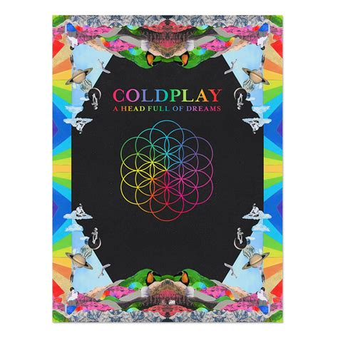 coldplay  head full  dreams lithograph