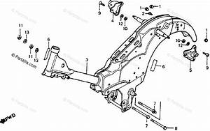 Honda Motorcycle 1977 Oem Parts Diagram For Frame
