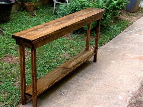 rustic console table extra narrow sofa table entryway hallway