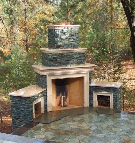 outside fireplace designs outdoor rumfords