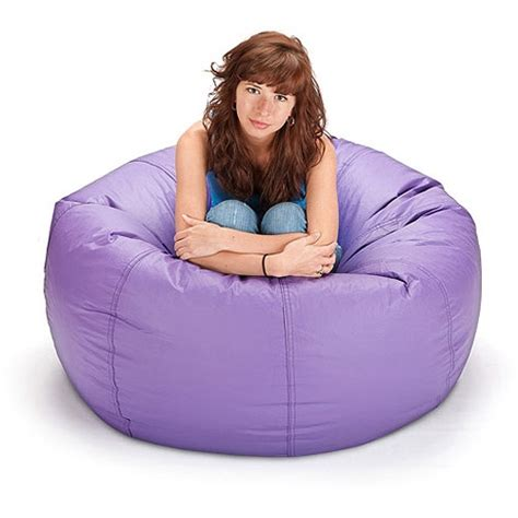 large vinyl lounger bean bag chair purple