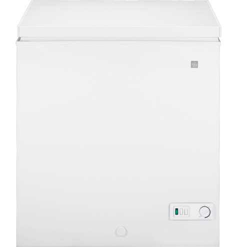 general electric fcmsuww  cu ft chest freezer  manual defrost lift   sliding