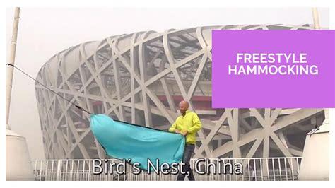 freestyle hammocking   travel hammock  crazy places youtube