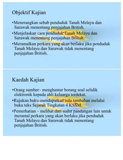 Contoh Kaedah Kajian Sejarah Buku Teks