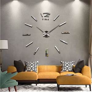 New home decor large wall clock modern design living