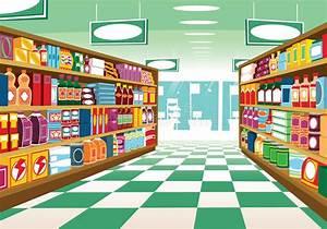 Supermarket Aisle Stock Vector - Image: 66016402