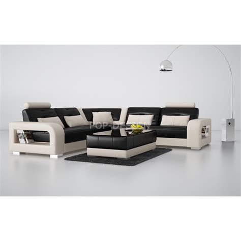 canape d angle xl canapé d 39 angle design en cuir salerno xl pop design fr