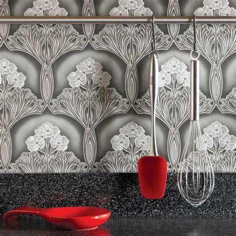 wallpaper kitchen backsplash ideas ideas for the kitchen wallpaper backsplash