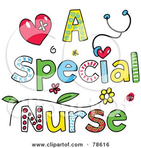royalty  rf clipart illustration   female nurse