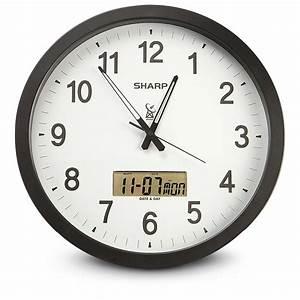 Sharpr atomic wall clock 184024 clocks at sportsman39s guide for Sharp wall clock atomic
