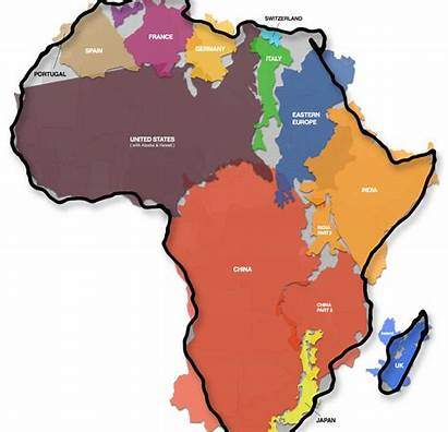 Africa True Map Actual Maps Shows