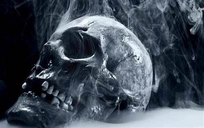 Skull Smoking Scary Creepy Wallpapers Desktop Dark
