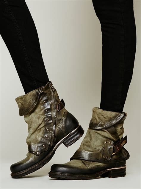 lyst  people emerson ankle boot  green