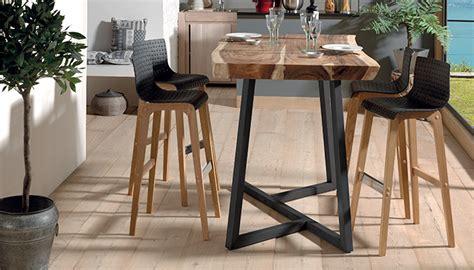 vente meuble de cuisine table haute en bois de suar collection kuma