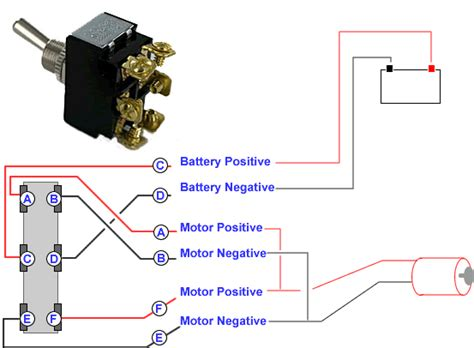 connecting a 6 terminal toggle switch to a dc motor knowledge base