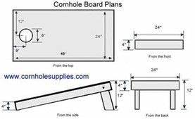25 best ideas about corn hole dimensions on pinterest With corn hole plans
