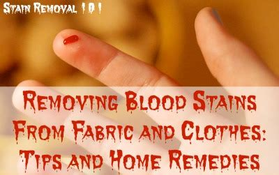 Removing Blood Stains From Upholstery by Tips For Removing Blood Stains From Fabric Clothing