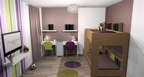 cuisine en violet chambre vert anis et gris