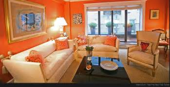 Orange Livingroom The Modern Home Decor Interior Orange Color Painting Ideas For