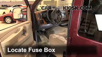 interior fuse box location   chevrolet express