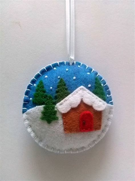 Magicforest Tree Sewing Set felt ornament snow by