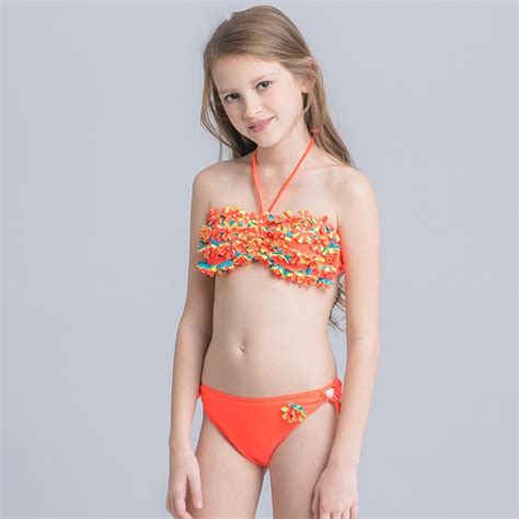 thin box small floral swimwear for