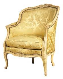 Reupholstering Chairs by A Painted Louis Xv Bergere From Miguel Meirelles French