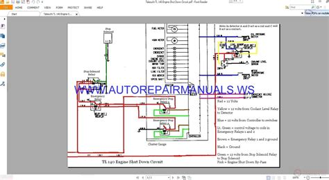 takeuchi tl 140 engine shut down circuit wiring diagram manual auto repair manual