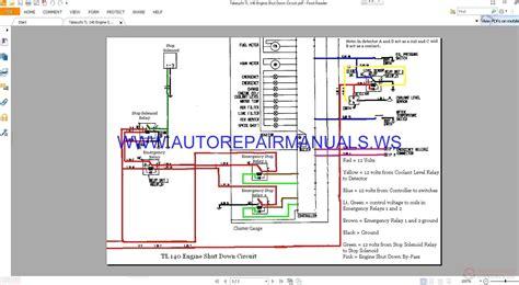 takeuchi tl  engine shut  circuit wiring diagram manual auto repair manual forum