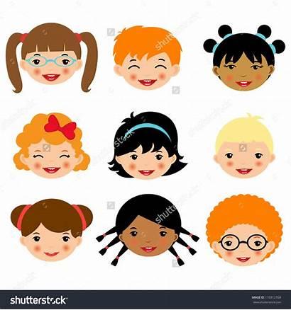 Faces Clipart Face Children Illustration Vector Clip