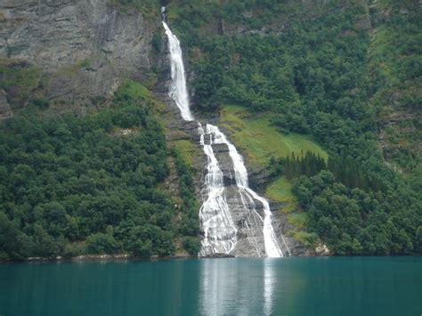 Seven Sisters Waterfall Waterfall In Geirangerfjord